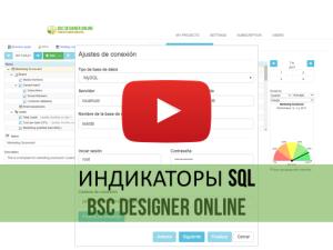 Обучающее видео: данные для индикаторов BSC Designer Online из базы данных SQL