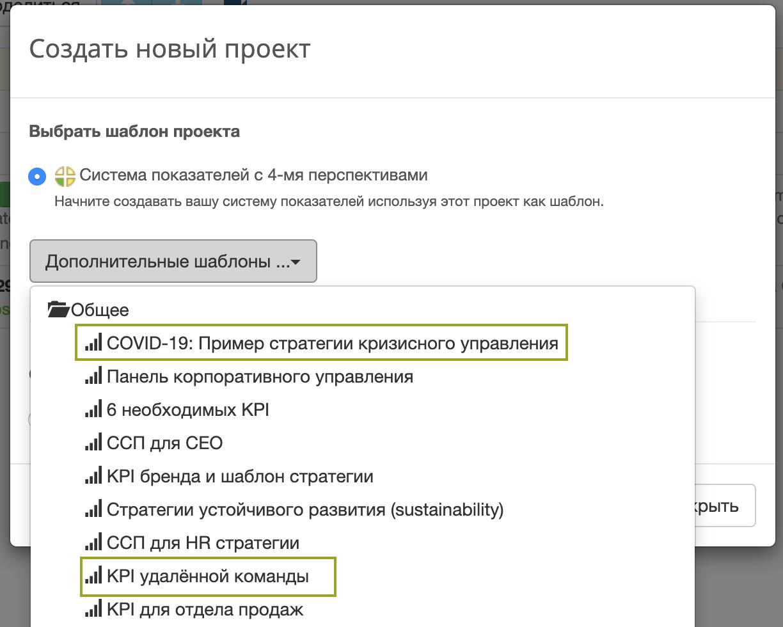 Covid-19 и шаблон системы оценки сотрудников на удалённой работе в BSC Designer Online
