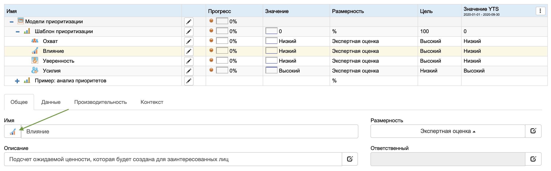 Изменить иконку параметра